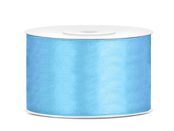 Sky Blue Double Sided Satin Ribbon (38mm / 25m)