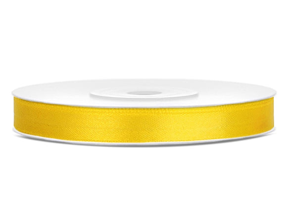 Yellow Double Sided Satin Ribbon (6mm / 25m)
