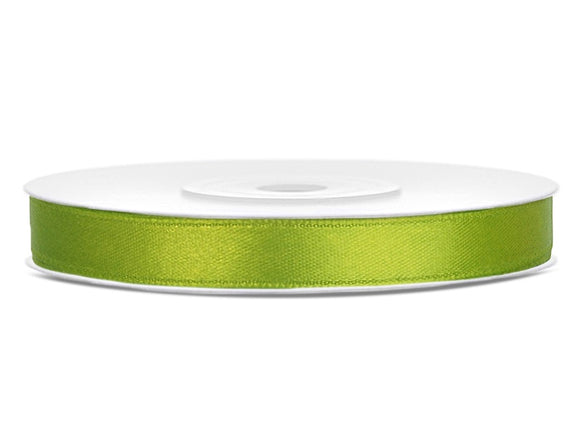 Light Green Double Sided Satin Ribbon (6mm / 25m)