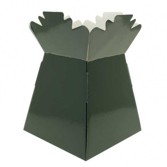 Pearlised Dark Green Living Vase Box