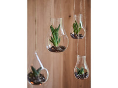 Hanging Glass Decoration / Tea Light Holder