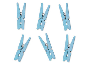 Baby Blue Wooden Pegs (10 Per Pack)