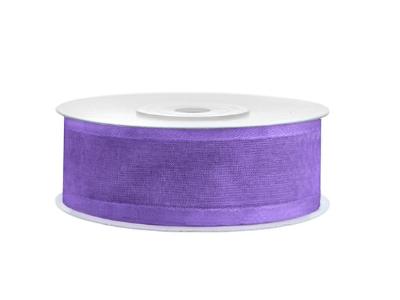 Lilac Chiffon Ribbon With Satin Edge (25mm / 25m)