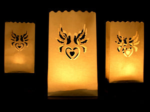 Candle Bag Lanterns (Love Bird / Heart Design)