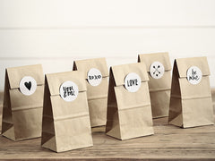 Kraft Paper Sweetie Bags and Stickers