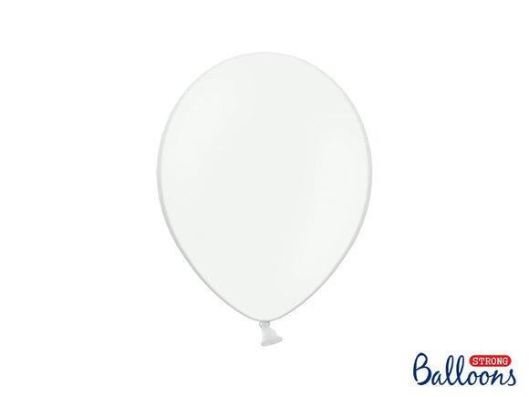 Pure White Pastel Balloons 11inch (10 Per Pack)