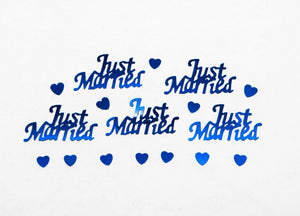 Just Married Royal Blue Table Confetti