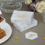 Scripted Marble Cake Boxes
