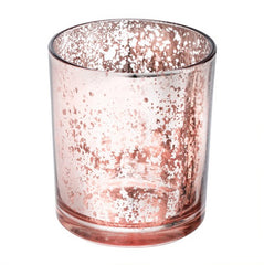 Medium Rose Gold Speckled Votive Holder