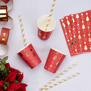 'Dazzling Christmas' Paper Cups - 8 Pack