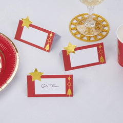 'Dazzling Christmas' Place Cards - 10 Pack