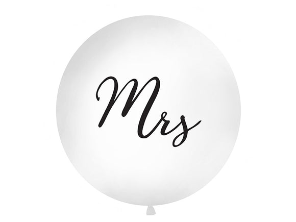 1 Metre Balloon - 'Mrs'