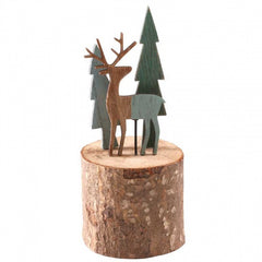 Wooden Winter Scene Decoration