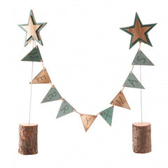 Wooden 'Merry Xmas' Garland Decoration