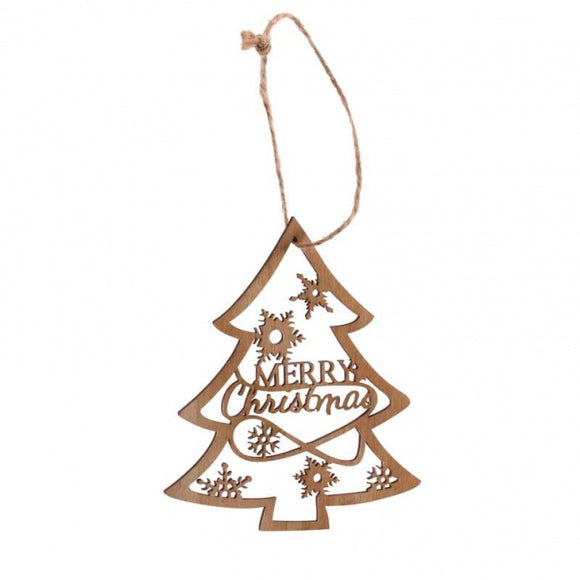 Hanging Christmas Tree Wooden Decoration