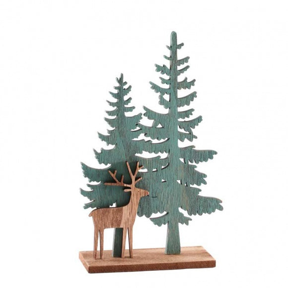 Wooden Christmas Tree / Reindeer Decoration