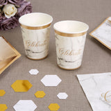 Scripted Marble Paper Cups