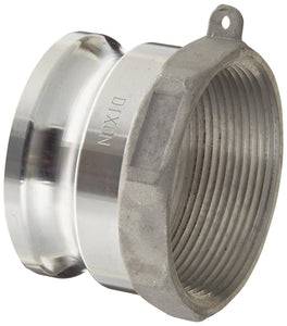 "Dixon G200-A-AL Aluminum A380 Global Type A Cam and Groove Hose Fitting, 2"" Plug x 2"" NPT Female"