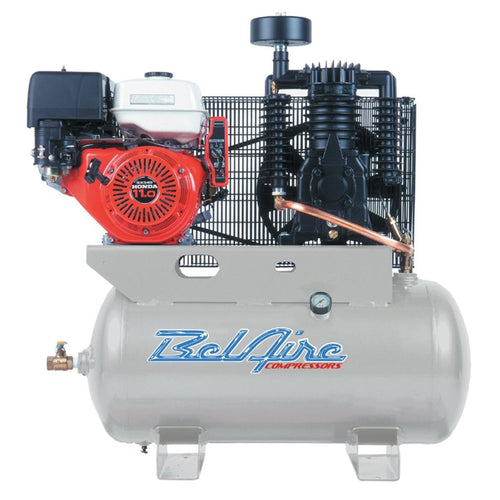 Belaire 11 Hp 30 Gallon Horizontal Two Stage Gas Driven Air Compressor - Compressors
