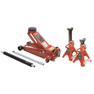 Sunex 3.5 Ton Floor Service Jack With 6 Stands