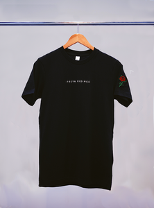 Embroidered Rose T-Shirt (Black)