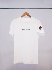 Embroidered Rose T-Shirt (White)