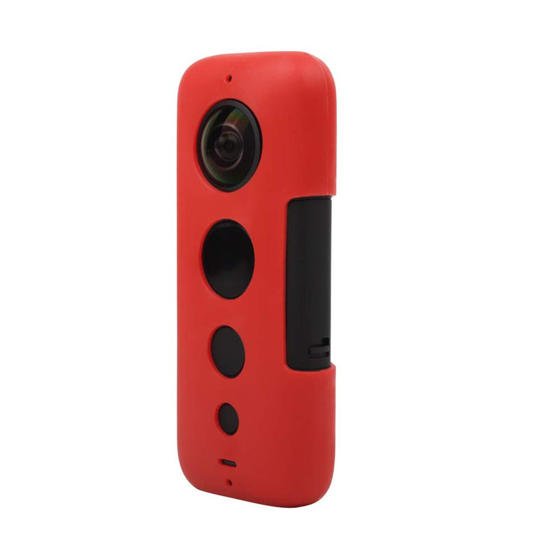 UniOEM Silicone Protective Cover Case for Insta360 ONE X Camera (Red)