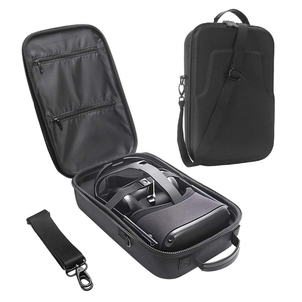 HIJIAO Hard Travel Case For Oculus Quest Headset and Controllers (Black)