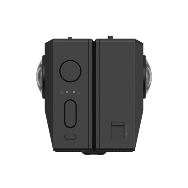 folded side view of Insta360 EVO
