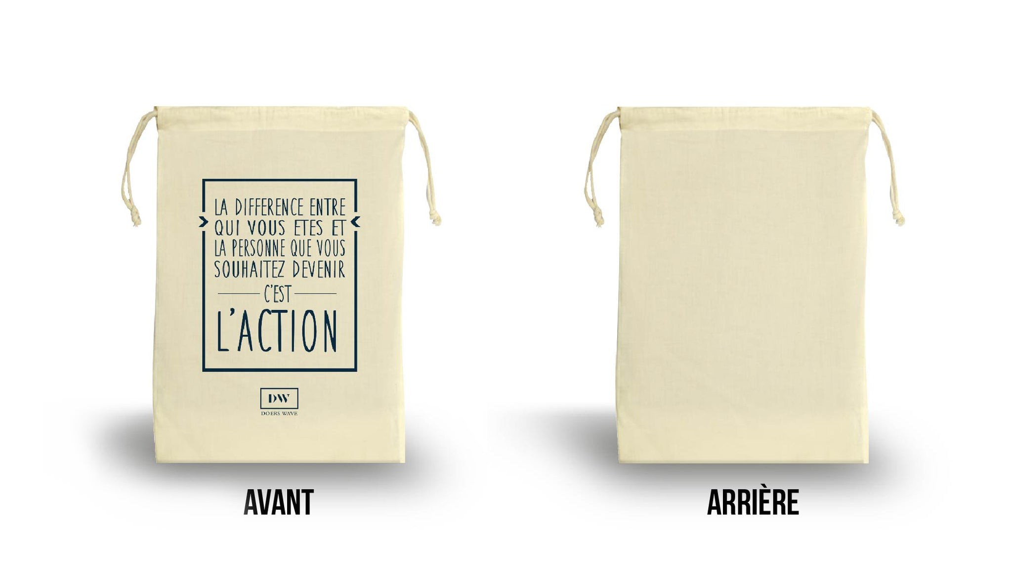 Citation Motivante - Etui Coton Naturel de DoersWave