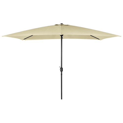 Charles Bentley Garden 3m x 2m Rectangular Parasol Umbrella - Beige