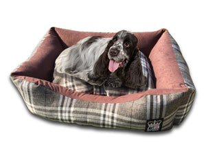 GB Pet Beds Chatsworth Check Dog Bed Settee
