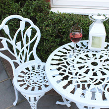 Charles Bentley 3 Piece Tulip Cast Aluminium Patio Bistro Set Table & 2 Chairs