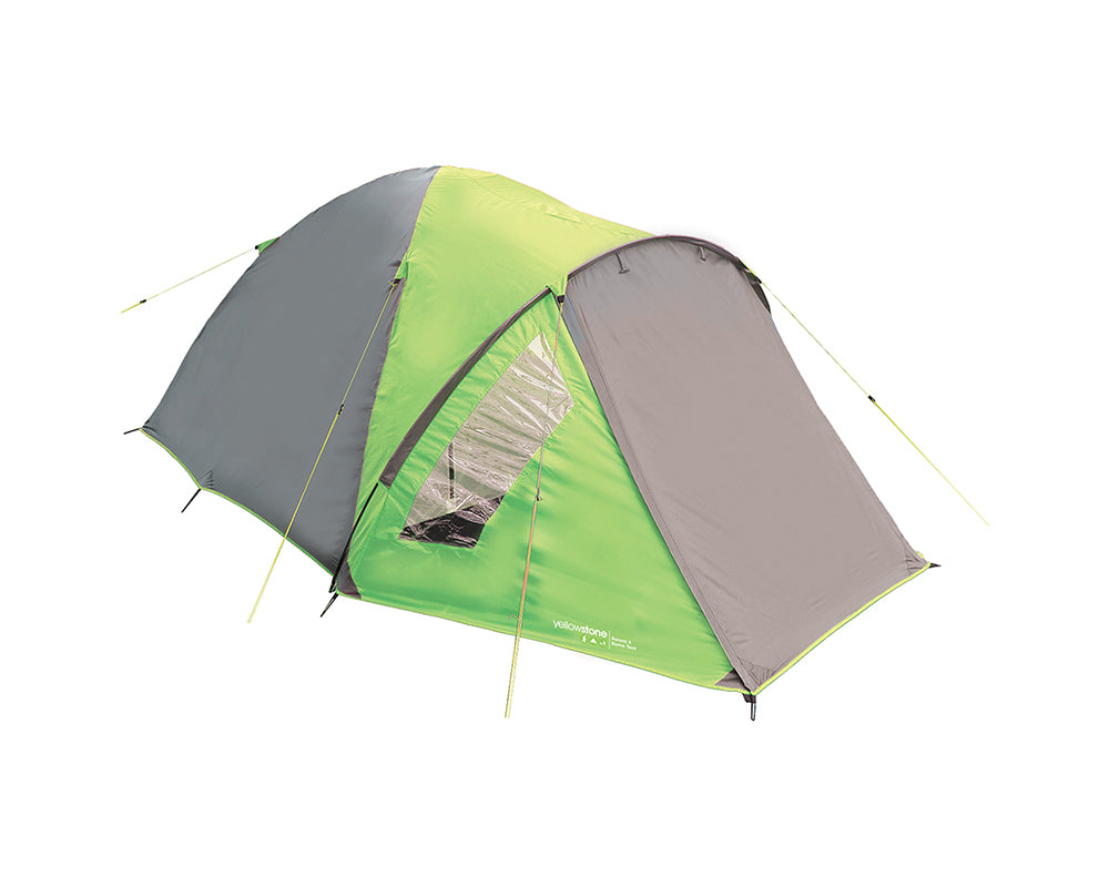 Yellowstone Ascent 4 Man Camping Tent - Green