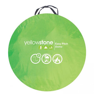 Yellowstone Easy Pitch Dome Tent - Green & Grey