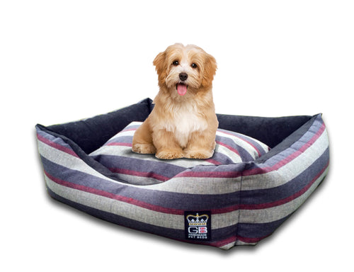 GB Pet Beds Mayfair Stripe Dog Bed Settee