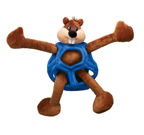 Kong Puzzlements Beaver Dog Toy - Small