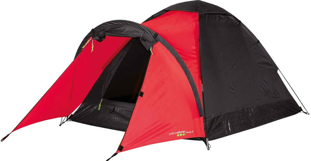 Yellowstone Peak 2 Person Dome Tent with Porch - Red