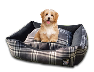 GB Pet Beds Balmoral Check Dog Bed Settee