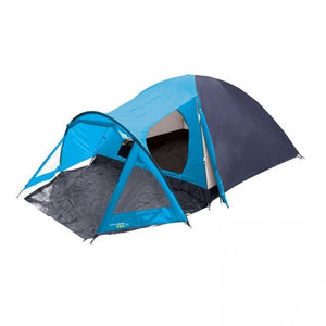 Yellowstone Peak 4 Person Dome Tent with Porch - Blue