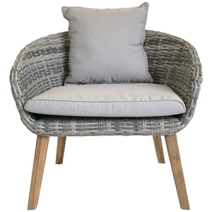 Charles Bentley Rattan Madrid Lounge Set - Grey