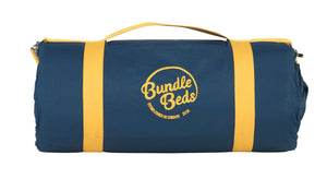 Bundle Beds Self Inflating Mattress and 15-tog Duvet - Navy and Yellow