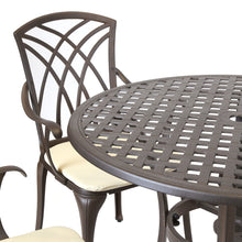 Charles Bentley Metal Cast Aluminium 5 Piece Garden Furniture Patio Set