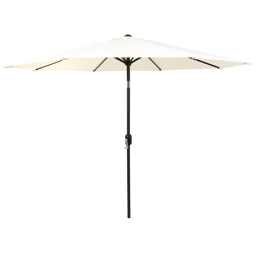 Charles Bentley 2.7m Metal Parasol Umbrella with Crank & Tilt - Cream
