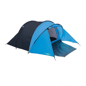 Yellowstone Peak 3 Person Dome Tent with Porch - Blue