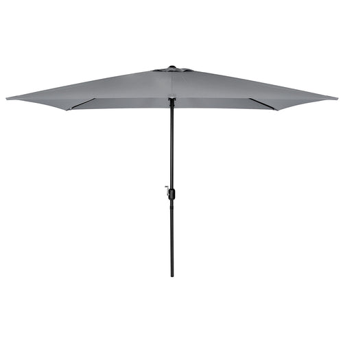 Charles Bentley Garden 3m x 2m Rectangular Parasol Umbrella - Light Grey
