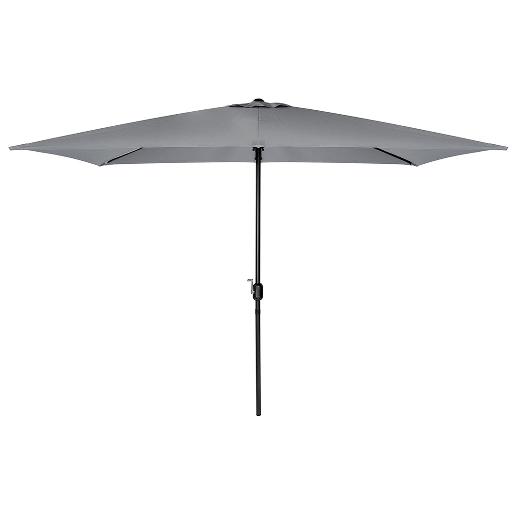 Charles Bentley Garden 3M x 2M Rectangular Parasol  - Light Grey