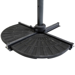 Charles Bentley 12kg Patio Banana Parasol Base - 2 Segments