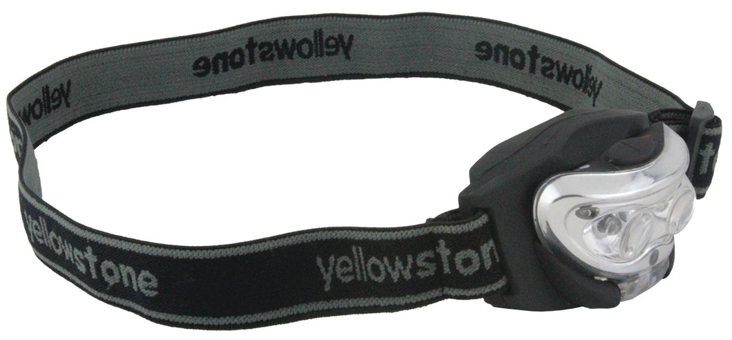 Yellowstone Anti Glare 2 + 1 LED Mini Head Torch