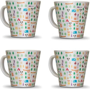 OLPRO Berrow Hill Melamine Mugs 4 Pack